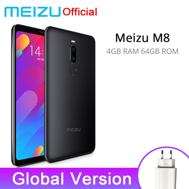 Meizu M8 4 GB 64 GB Version globale V8 SmartPhone Helio P22 Octa Core 5.7 ''écran double caméra arrière 3100 mAh empreinte digitale
