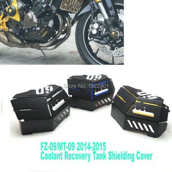 Coolant Recovery Tank Shielding Cover For Yamaha MT-09 FZ-09 MT FZ 09 MT09 FZ09 2014 2015 2016 High Quality CNC Aluminum crash bar mt 09