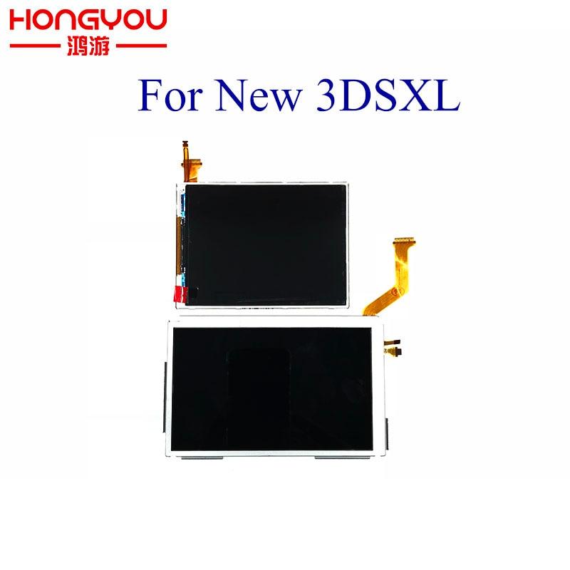 5 sztuk wymiana nowy górny górny przycisk niższe ekran wyświetlacza LCD naprawa części panel wyświetlacza dla konsoli Nintendo nowy 3DS XL LL w Części zamienne i akcesoria od Elektronika użytkowa na  Grupa 1
