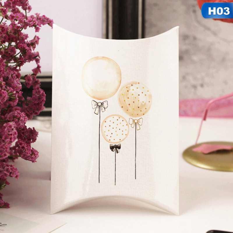 1Pcs Kotak Permen Hadiah Swan Kertas Permen Pola Kraft Tamu Kemasan Kotak Hadiah Tas Pernikahan Pesta Anak-anak Hadiah dekorasi