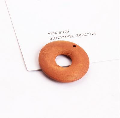New diy jewelry making 50pcs/lot handmade wood material round shape pendants charms earrings/garments accessory