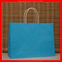 (100 шт./лот) размер W32xH26xD12cm логотип подарок бумажный мешок