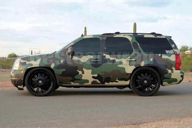 Military Green Brown Black Camouflage Vinyl For Car Wrap