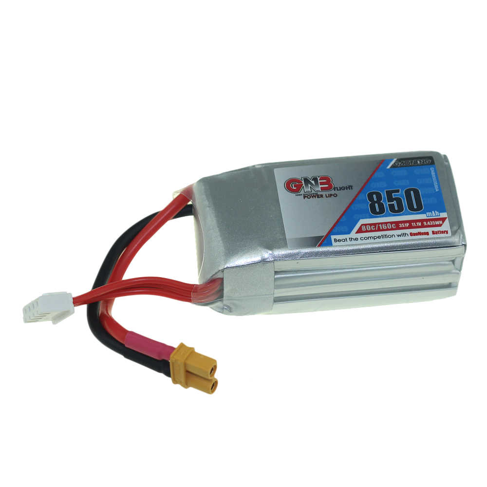 GNB Lipo батарея 3 S 4S 850 mAh 80C 160C 11,1 V 14,8 V с XT30U-F штепсельной вилкой аккумуляторная батарея для RC гоночного дрона