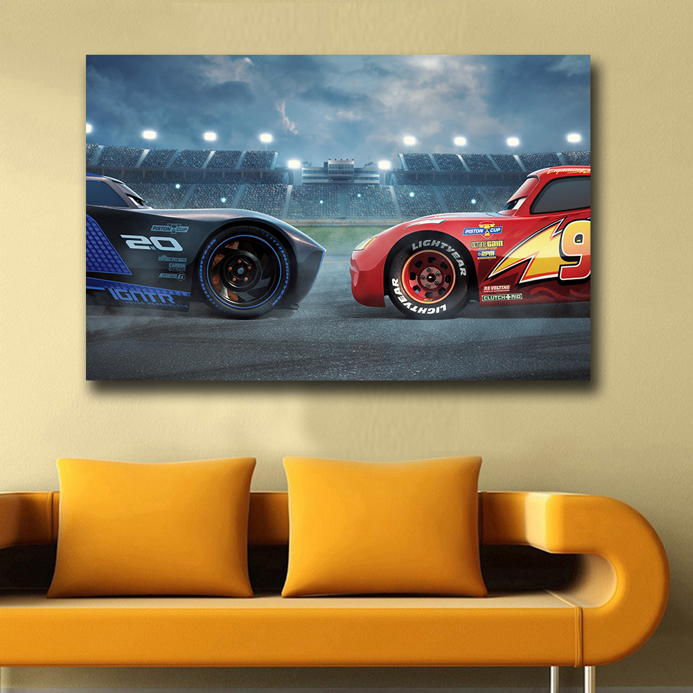 Printing wall picture cars 3 pixar animated movie ad Home Decor On ...