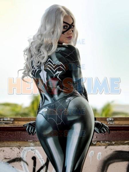 Newest Black Cat Symbiote Female Costume Spidey Cosplay