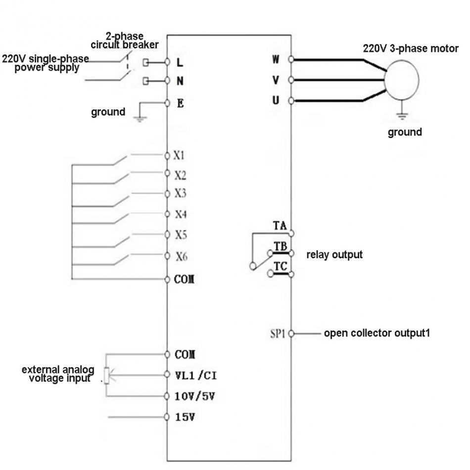 Phase Variable Frequency Drive Wiring Diagram on