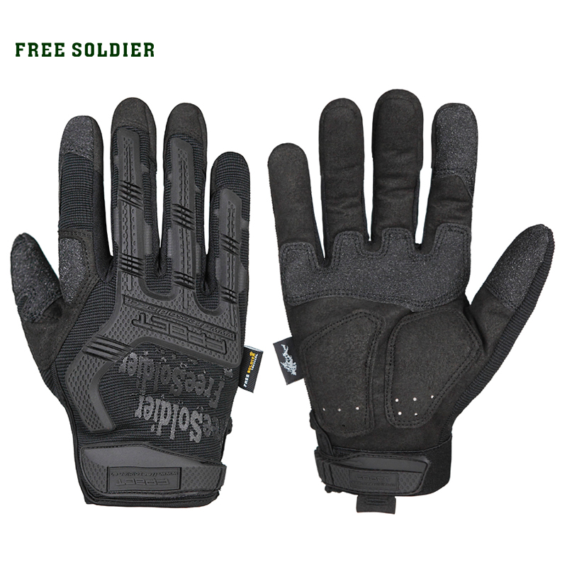 Tactical-Gloves Cycling Free-Soldier Training Hiking Outdoor Sports Full Non-Slip Half-Finger