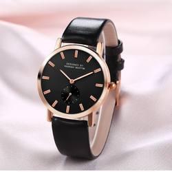 Для женщин часы кожаный ремешок Повседневное Бизнес Модные Простые лучший бренд кварцевый механизм дамы Наручные часы Водонепроницаемый