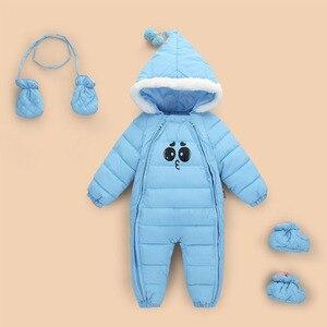 Image 4 - Детская куртка для девочек, Осень зима 2020, теплый и удобный комбинезон для новорожденных