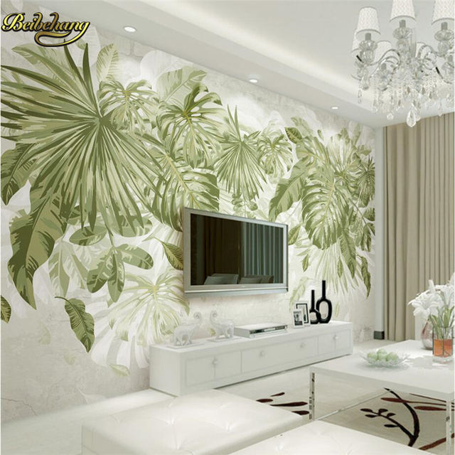 Beibehang green leafy plants custom mural wallpaper landscape photo wall paper murals living room bedroom wall