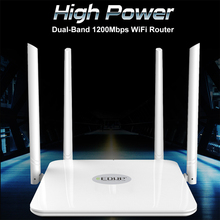 EDUP 5 ghz wifi router 1200 mbps Wlan WiFi Repeater Drahtlose 802.11ac high power wifi range extender 4 * 5dbi antenne wifi verstärker(China)