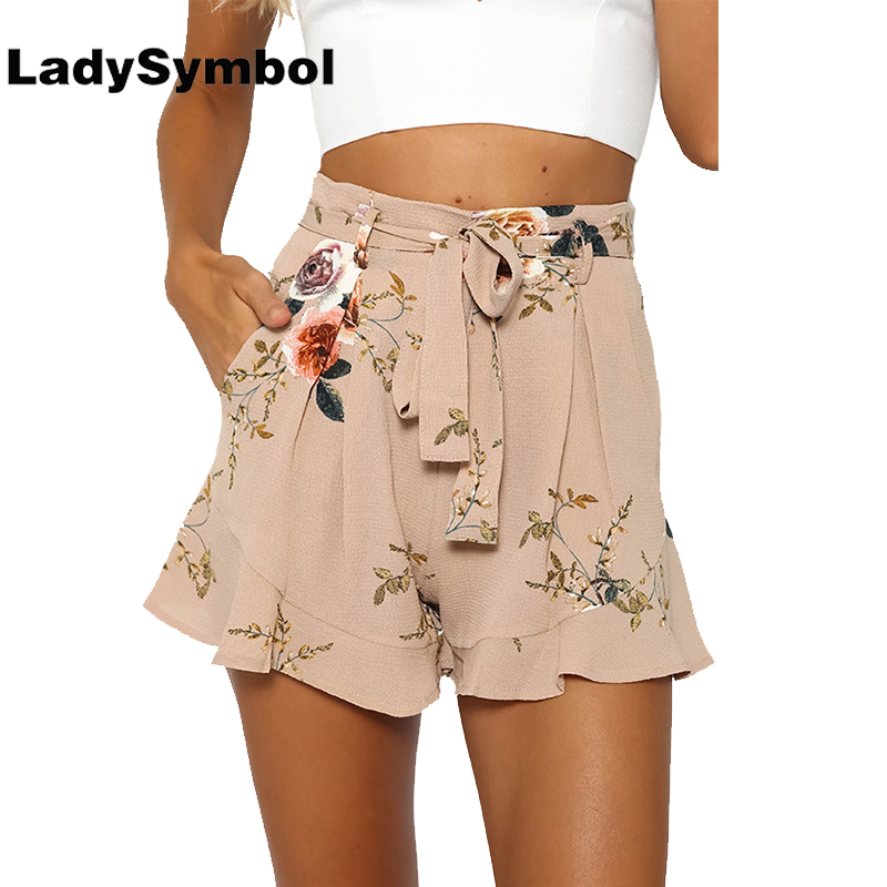 Online Get Cheap High Waist Floral Ruffle Shorts -Aliexpress.com ...