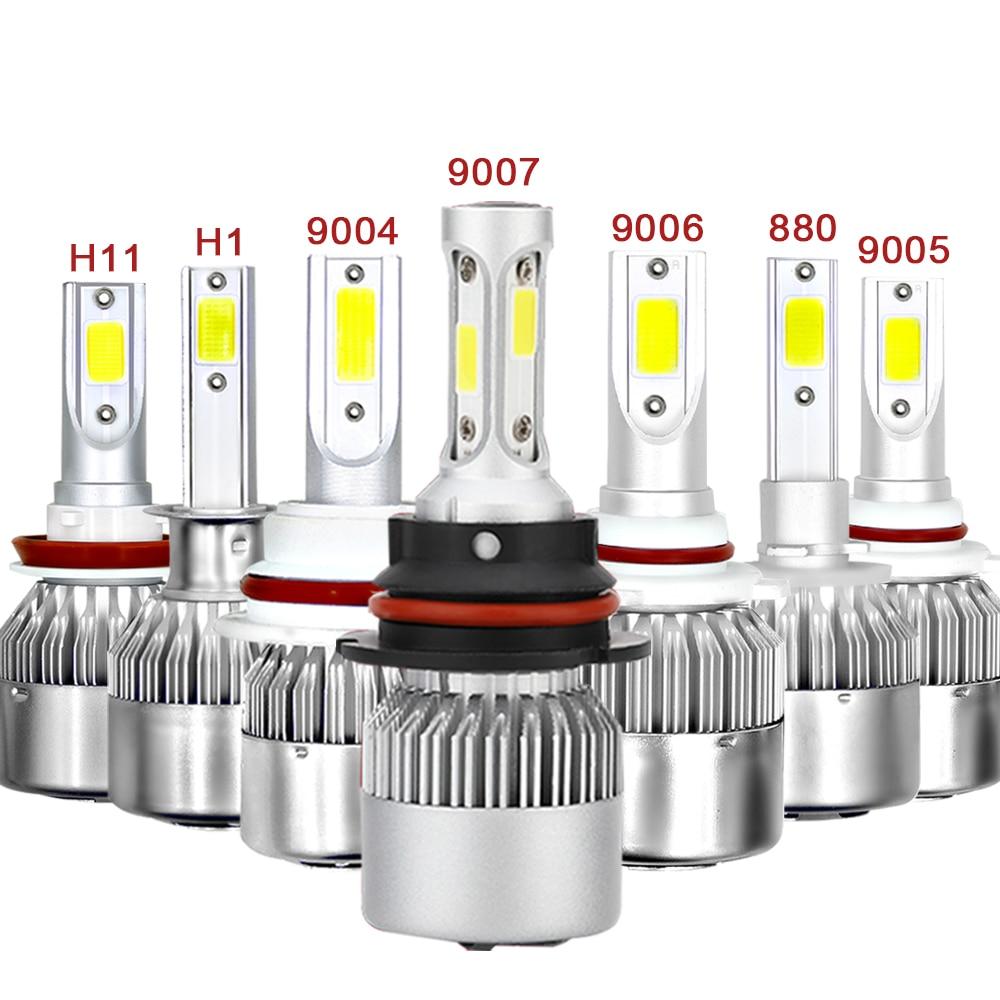 H4 H7 Auto Car Headlight LED H11 H1 H3 9004 9005 9006 880 H27 72W High Low Beam Light Automobiles 12V Lamp white 6000K Bulb cnsunnylight car led headlight bulbs all in one h7 h11 h1 880 h3 9005 9006 9012 5202 72w 8500lm h4 h13 9007 high low beam lights