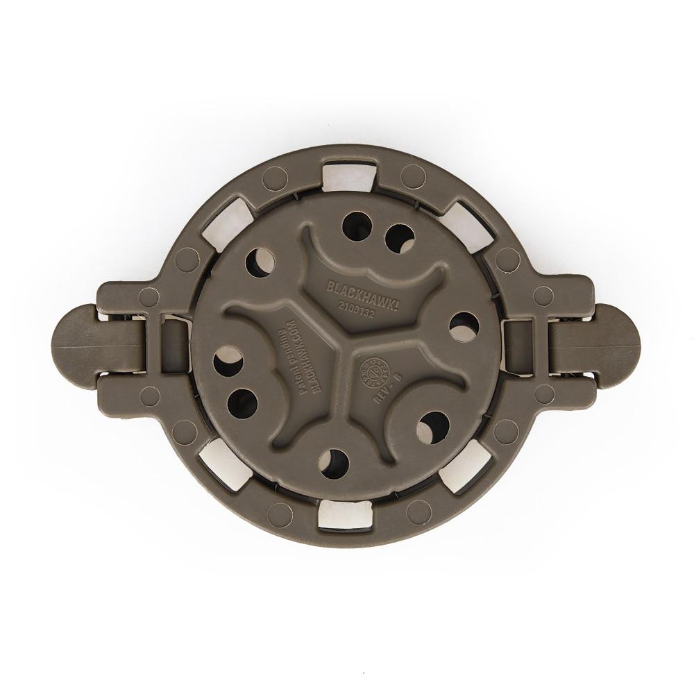 Le piattaforme tattiche per fondina montano la tua fondina in qualsiasi angolo di 360 gradi. Colore marrone chiaro HS7-0047