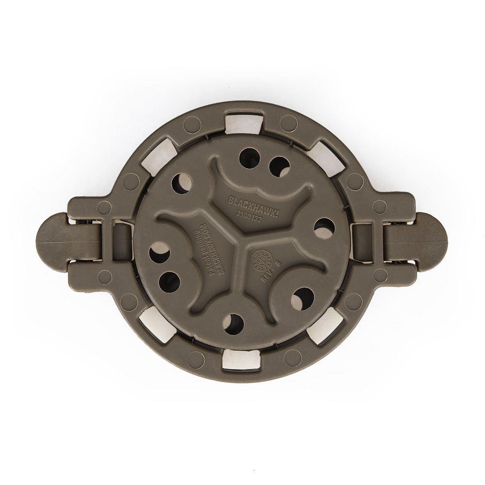 Platform holster taktikal memasang holster anda di mana-mana sudut 360 darjah. Black Tan Color HS7-0047
