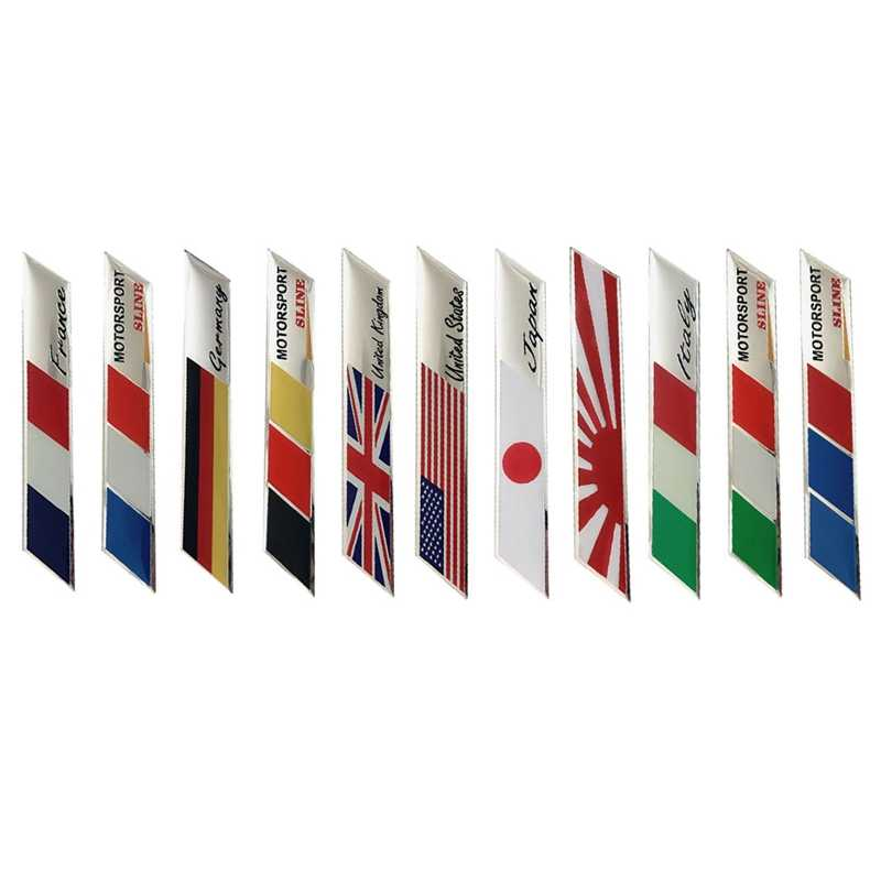 UK USA ITALY FRANCE GERMAN JAPAN National Flags SLINE SPORT Car Stickers Automobiles Motorcycles Decorating Accessories