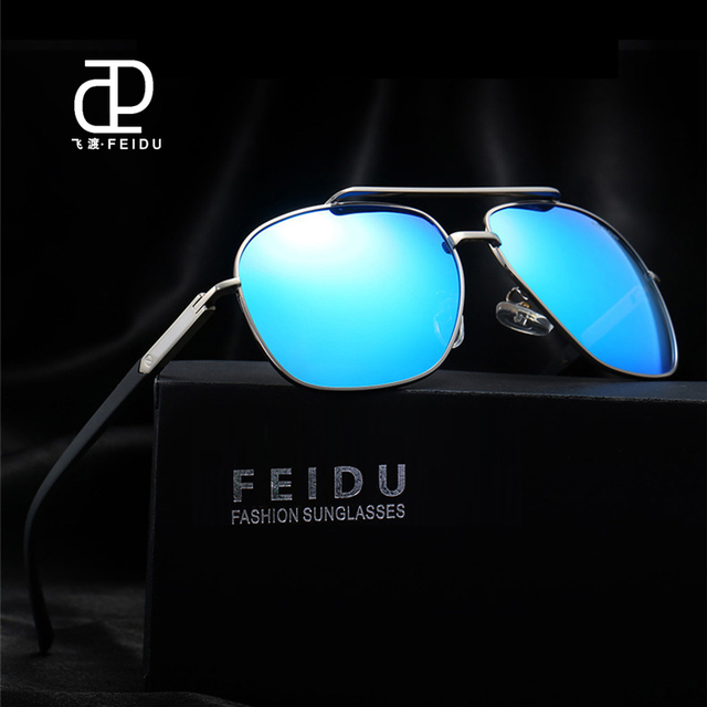 c083a15a5b6 FEIDU HD Polarized Sunglasses Men Vintage Brand Design Double Bridge Sun Glasses  Men Driver Eyewear Male Oculos De Sol With Box