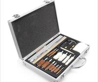 26Pcs Set Gun Cleaning Kit Hunting Shotgun Pistol Convenient With Aluminium Box Hunting Accessories