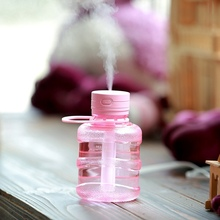 New Portable USB Mini Aroma Humidifier Diffuser Water Bottle LED Lights Ultrasonic Air Humidifier for Home Office Car 300ML