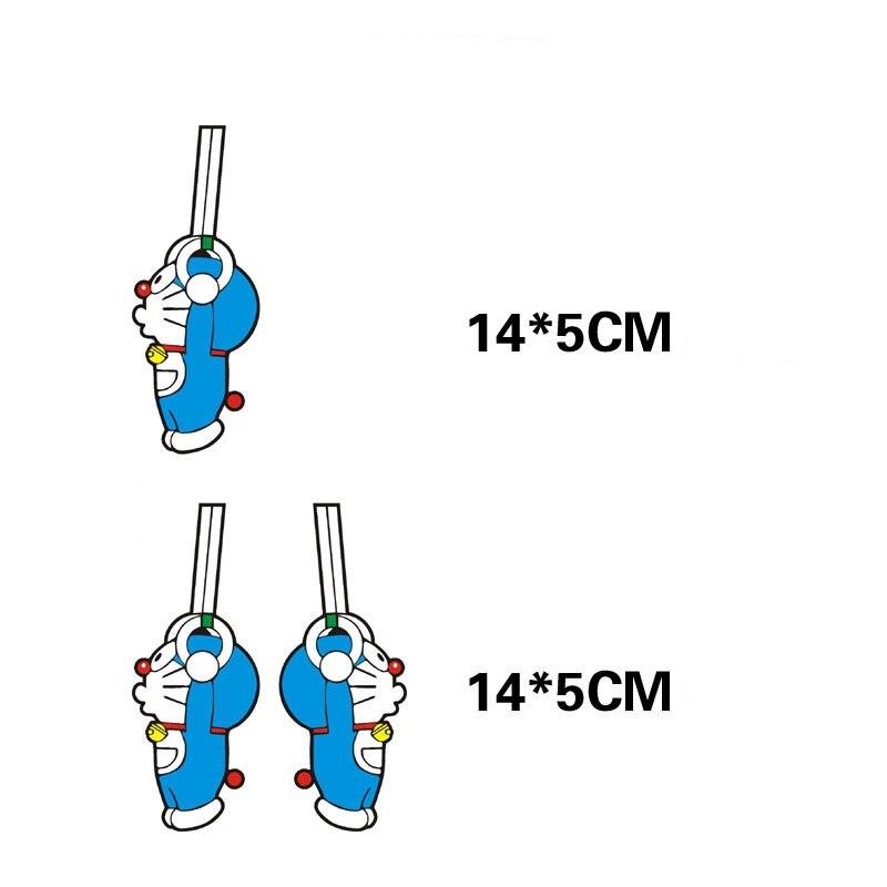 Cartoon Car Sticker and Decal Doraemon Sports Rings Funny Accessories for Ford Focus Vw Skoda Polo Golf 7 Bmw Audi Q3 Q5 Kia