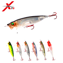 XTS Fishing Lure 70mm/90mm/110mm Artificial Popper Wobblers ABS 6 Colors Floating Crankbait With Switchable Tongue Plate 5367