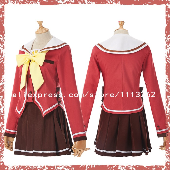 Back To Search Resultshome The Best Charlotte Tomori Nao School Uniform Cosplay Costume Free Send The Sock Unisex