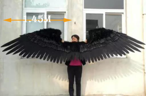 2017 lastest cosplay fashion feather wings stage lagre props pure handmade Fashion angel wings props model catwalk shows supply