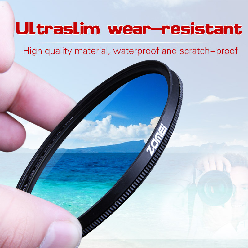 Zomei 52mm CPL Circular Polarizer Polarizing Filter for Canon Nikon Sony Camera Lens 40.5/49/52/55/58/62/67/72/77/82mm benro paradise shd cpl hd ulca wmc slim 49 52 55 58 62 67 72 77 82mm circular polarized sunglasses polarizer cpl mirror