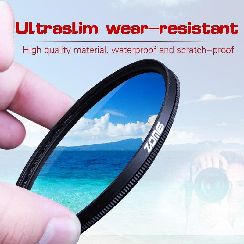 Zomei 52mm CPL filtro polarizador Polarizador Circular para Canon Nikon Sony Objetivos para cámaras 40.5/49/52/55 /58/62/67/72/77/82mm