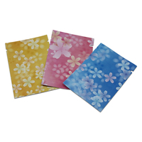 Open Top Aluminium Foil Print Flower Food Packaging Storage Bag Pouch Heat Seal For Nuts Candy