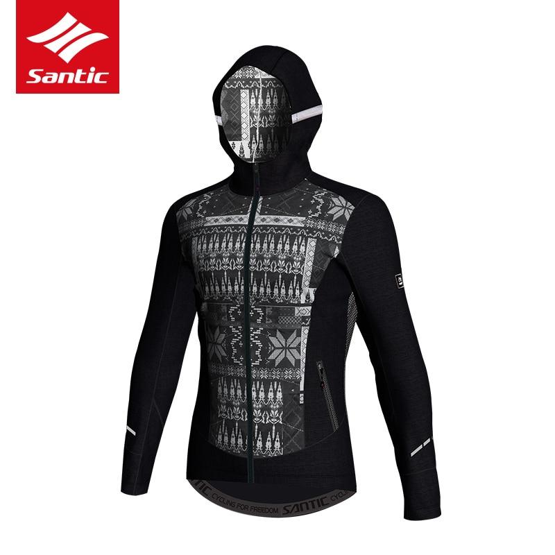 цена Santic Men Winter Cotton Bicycle Cycling Jacket Outdoor Windproof Coats Keeping Warm Santic 3D Layer Skill MTB Road Bike Jersey онлайн в 2017 году