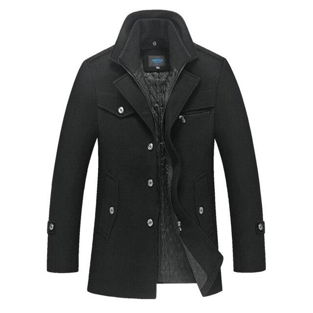 Winter Warm Men's Wool Coat...