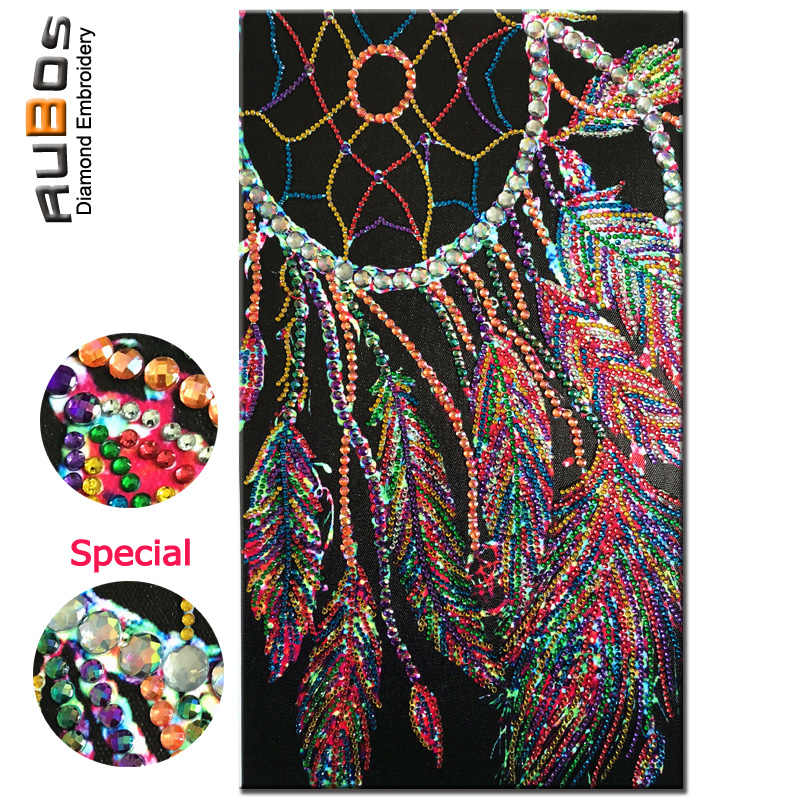 RUBOS DIY 5D Diamond Painting Dreamcatcher Feather Diamond Embroidery Big Crystal Mosaic Sale Pattern Rhinestone Gift Wall Decor