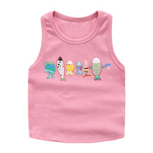2017 New Summer Unisex Vest Cotton Print Cartoon Girls Camisoles Baby Boys Vest Tops Casual Fashion Boys Children Clothing 2v002