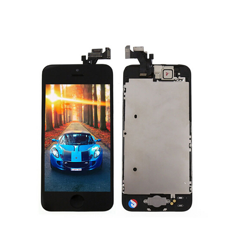 ФОТО 2016 New  LCD Display Touch Screen Digitizer Assembly With Front Camera Home Button For Iphone 5 5G