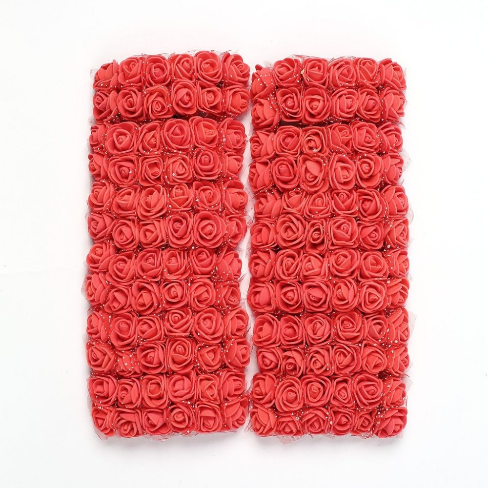 144 шт. мини пены розы искусственные цветы для дома свадебное украшение автомобиля DIY помпоном венок Декоративные свадебный цветок поддельные цветок