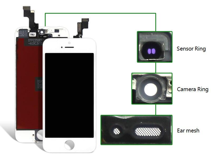2 aaa calidad lcd para iphone se 3pcsgrade asamblea del digitizador de la pantal