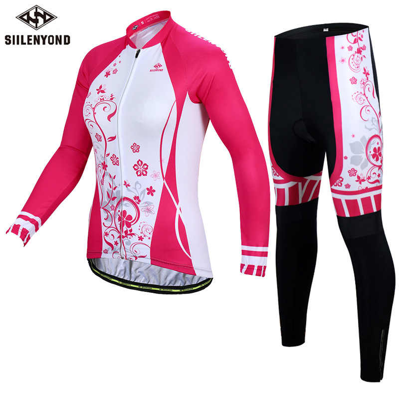 Fashion Women MTB Bike Cycling Clothing Breathable Mountain Bicycle Clothes Ropa Ciclismo Quick-Dry Sunscreen Cycling Jersey Set