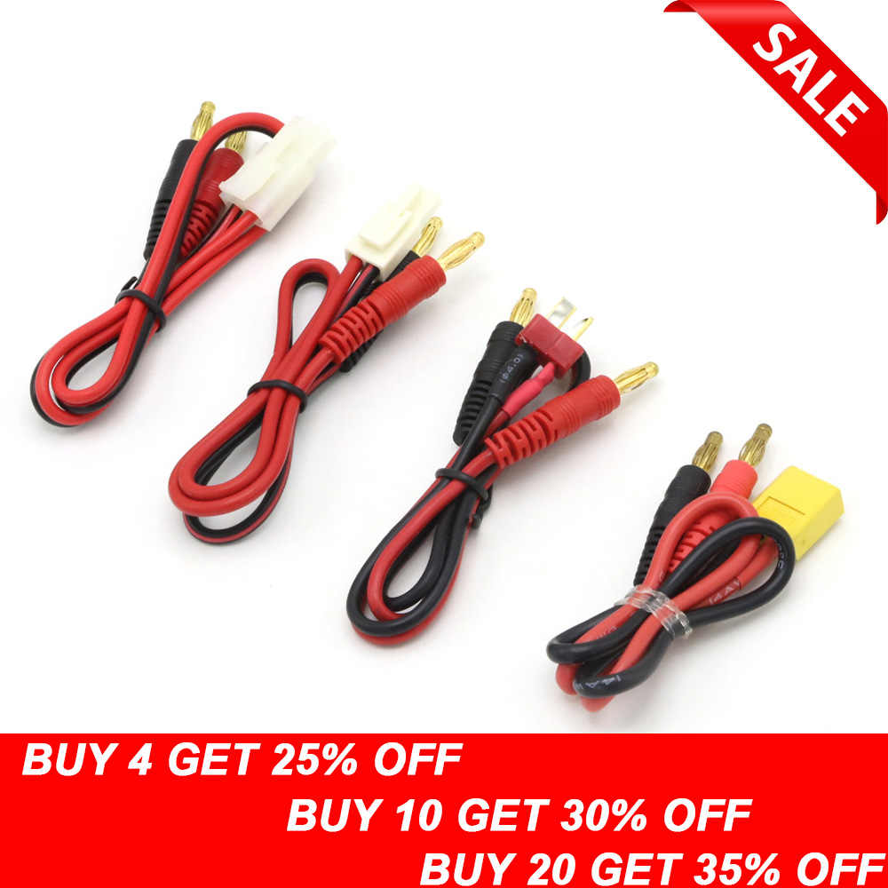 Quick and Easy to Use RC Connector Cable Set T Plug to Banana Connector for IMAX B6 B6AC Charger