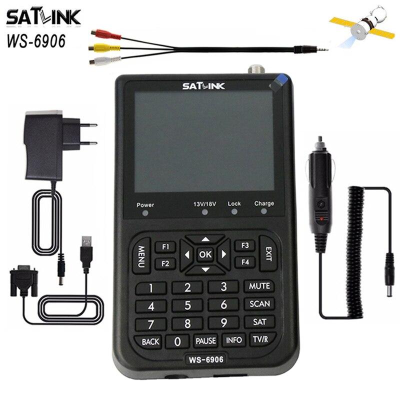 Original Hot Satlink WS-6906 DVB-S 3.5 inch LCD DVB-S FTA Digital Satellite Signal HD meter satFind ws 6906 satellite Finder satlink ws 6979se dvb s2 dvb t2 mpeg4 hd combo spectrum satellite meter finder satlink ws6979se meter pk ws 6979