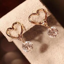2019 New Hot Fashion Korea Peach Hati Zircon Crystal Stud Earrings untuk Wanita Perhiasan(China)