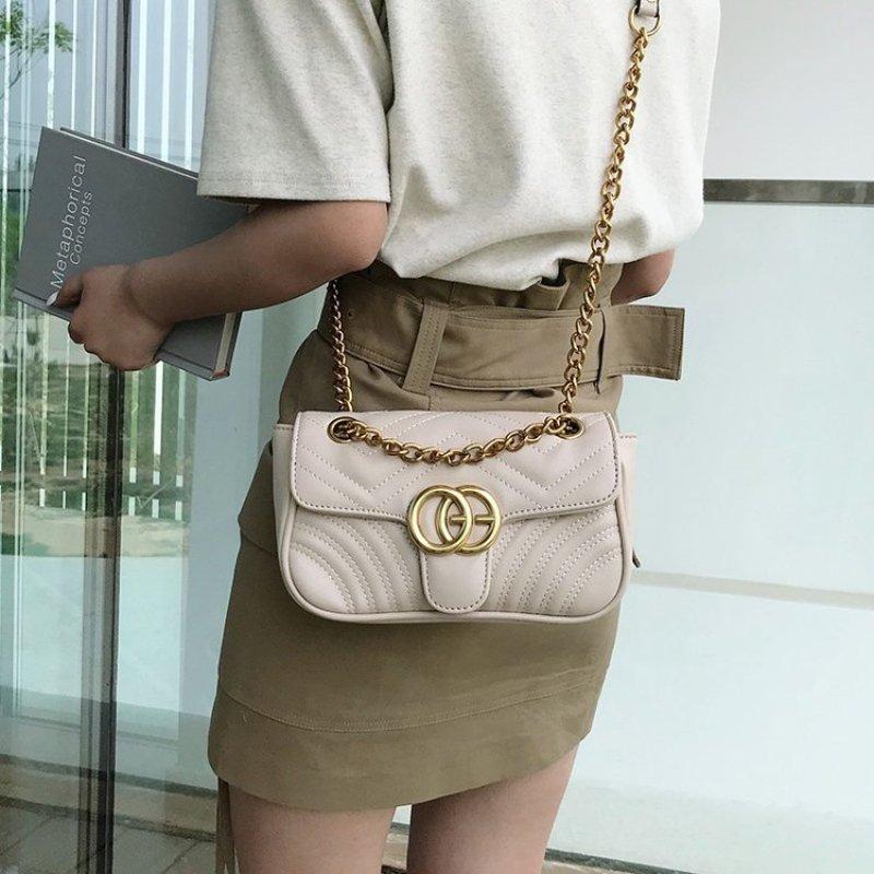 PU Leather Women Plaid Shoulder Bag Chain Messenger Bag Big Famous Brand Designer Classic Fashion Female Handbag Cross Body Bag