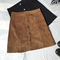 2016 Fashion women skirt ladies corduroy skirts cotton women mid skirt free shipping