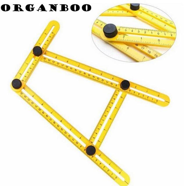 ORGANBOO 1PC Multifunctional Angle Template Tool Plastic Measuring