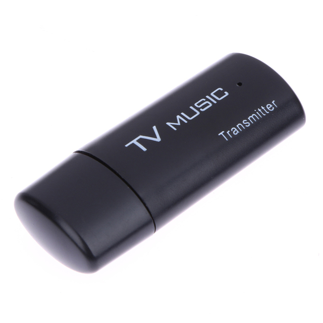 Black USB Bluetooth Audio Transmitter Wireless Stereo Bluetooth Music Box Dongle Adapter for TV MP3 PC