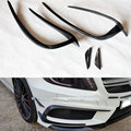 Mercedes A Class W176 Carbon Fiber Front Bumper canards Splitter For Benz W176 2013 2014 2015 4pcs/set