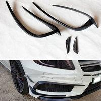 Mercedes A Class W176 AMG Carbon Fiber Front Bumper canards Splitter For Benz W176 AMG Only 2013 2014 2015 4pcs/set