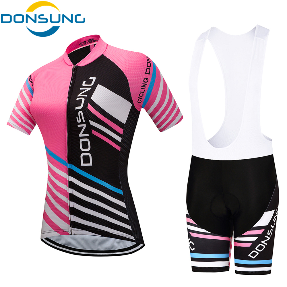 2018 Pro Team Cycling Jersey Set Summer Racing Bike Jersey Sets Women Quick Dry Breathable MTB Bicycle Cycling Set Ropa Ciclismo