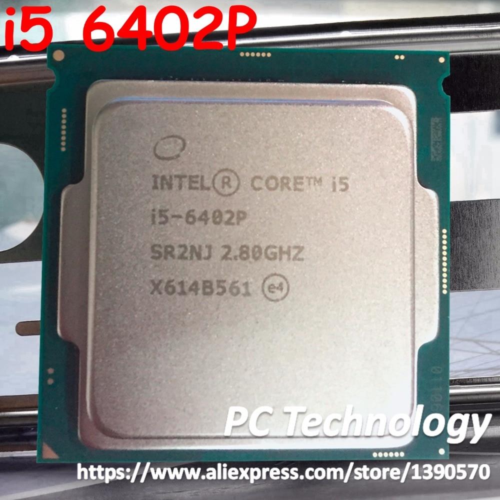 Original Intel Core processor i5 6402P Quad core 2 8GHz 6MB Cache i5 6402P LGA1151 CPU